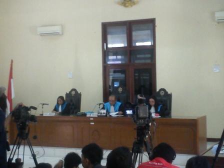 Suasana pembacaan putusan PTUN Jakarta