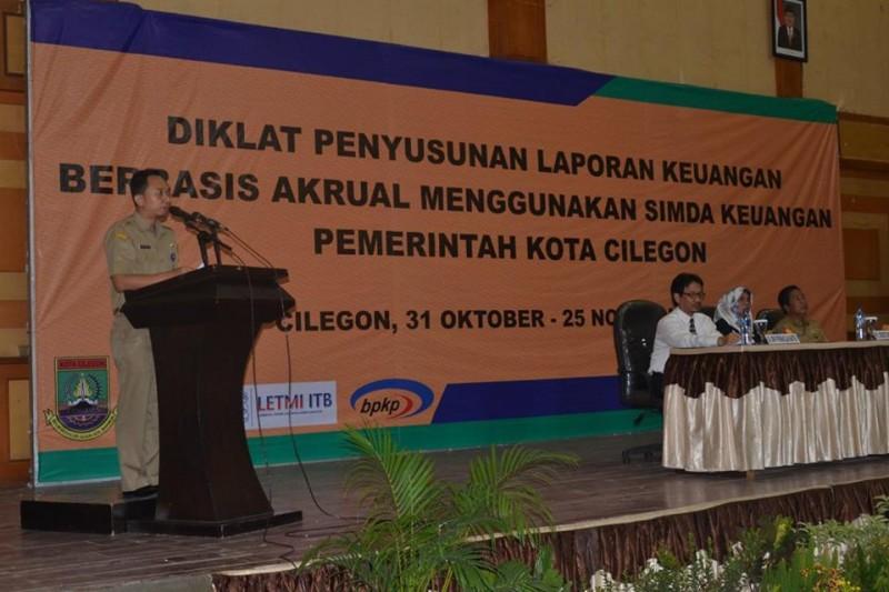 Suasana Diklat Penyusunan Laporan Keuangan Berbasis Akural Yang Digelar Oleh BKD Kota Cilegon