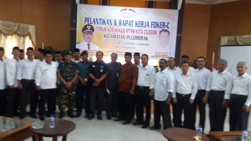 Suasana Pengurus Foker-C Kecamatan Pulomerak Usai Pelantikan. (Fofo, Bidik Banten)