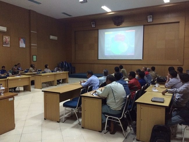 Suasana Penyusunan Rencana Kontijensi Bencana Kegagalan Teknologi Yang Digelar Oleh BPBD Kota Cilegon Di Aula Bappeda. (Foto, BidikBanten)