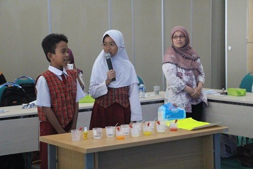 Uji demonstrasi vitamin C yagn dibawakan SDN Jelupang 2 Tangsel