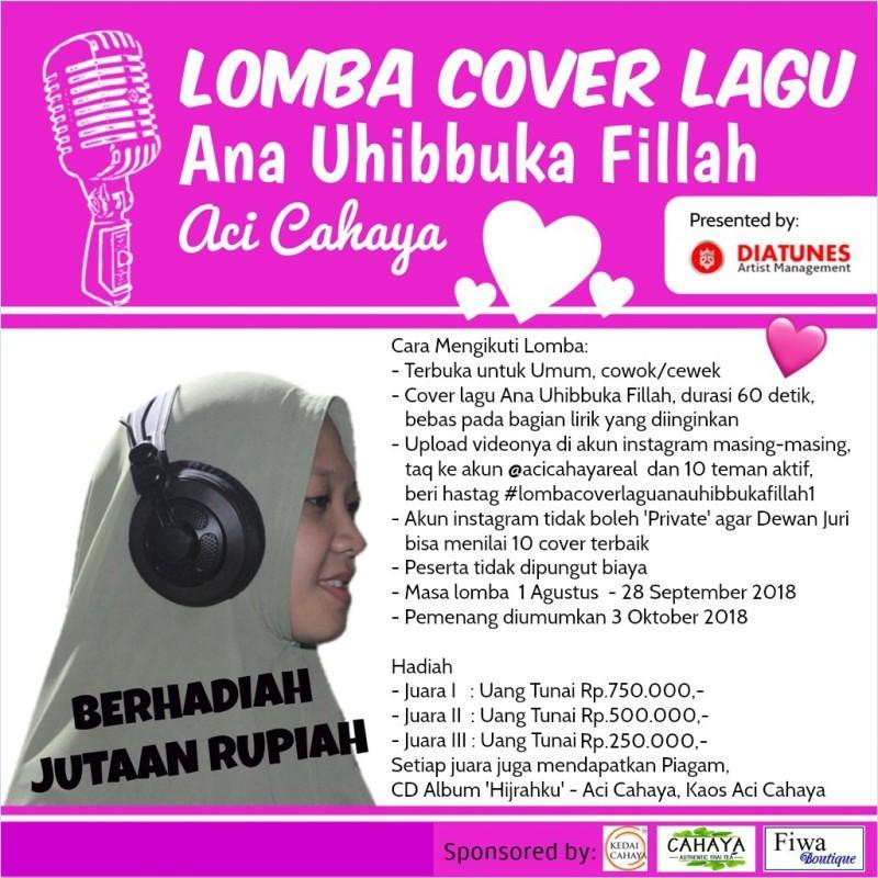 Brosur Lomba Cover Lagu Ana Uhibbuka Fillah. (Dok. Diatunes)