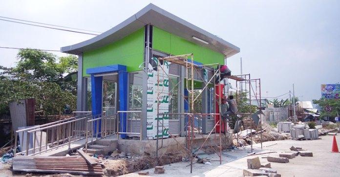 Pembangunan selter sebagai sarana transit para penumpang bus jalur Seruni-Ciwandan