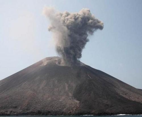 Aktifitas Erusi Gunung Anak Krakatau yang terpantau BMKG